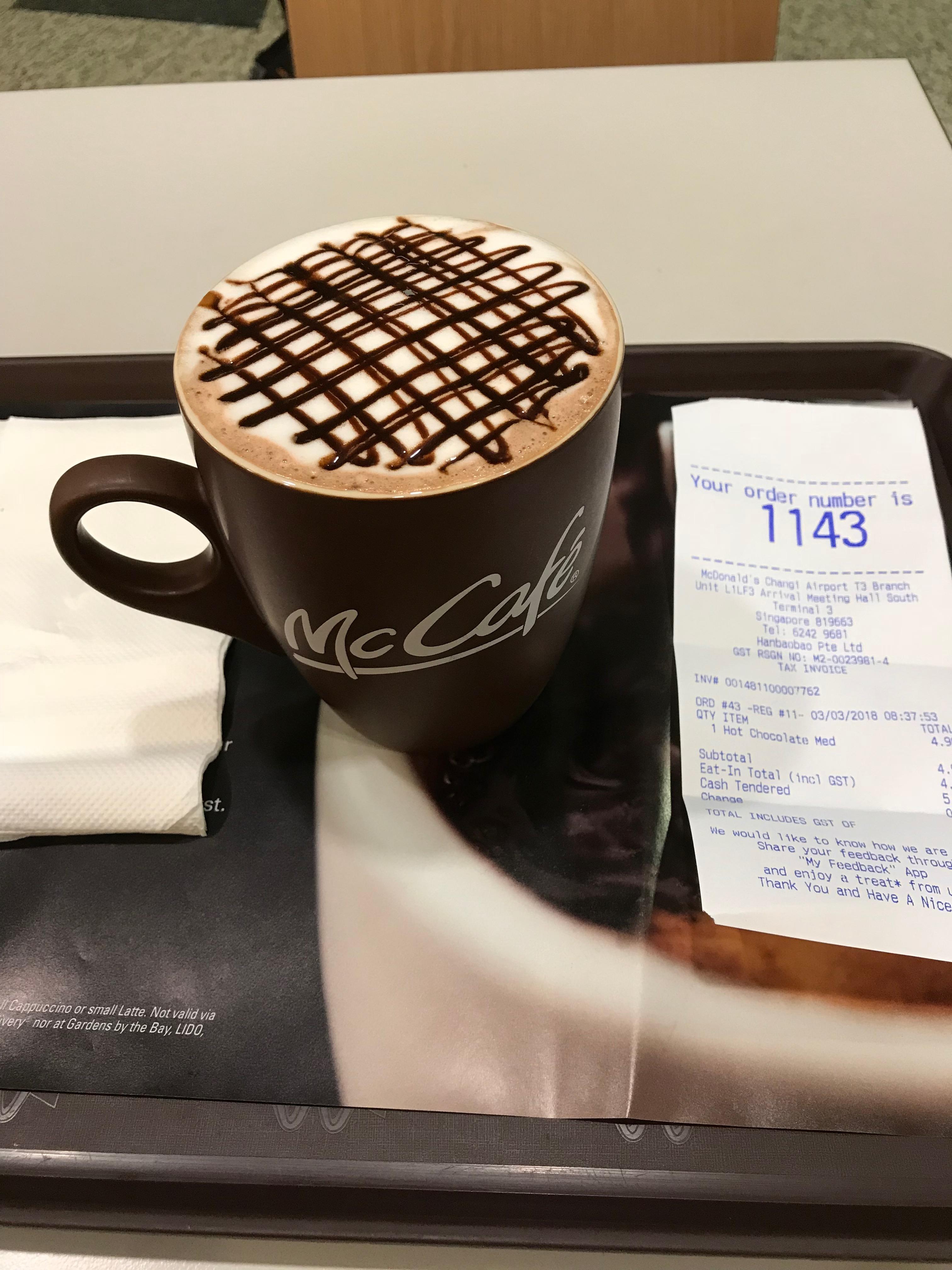 マックカフェ シンガポール