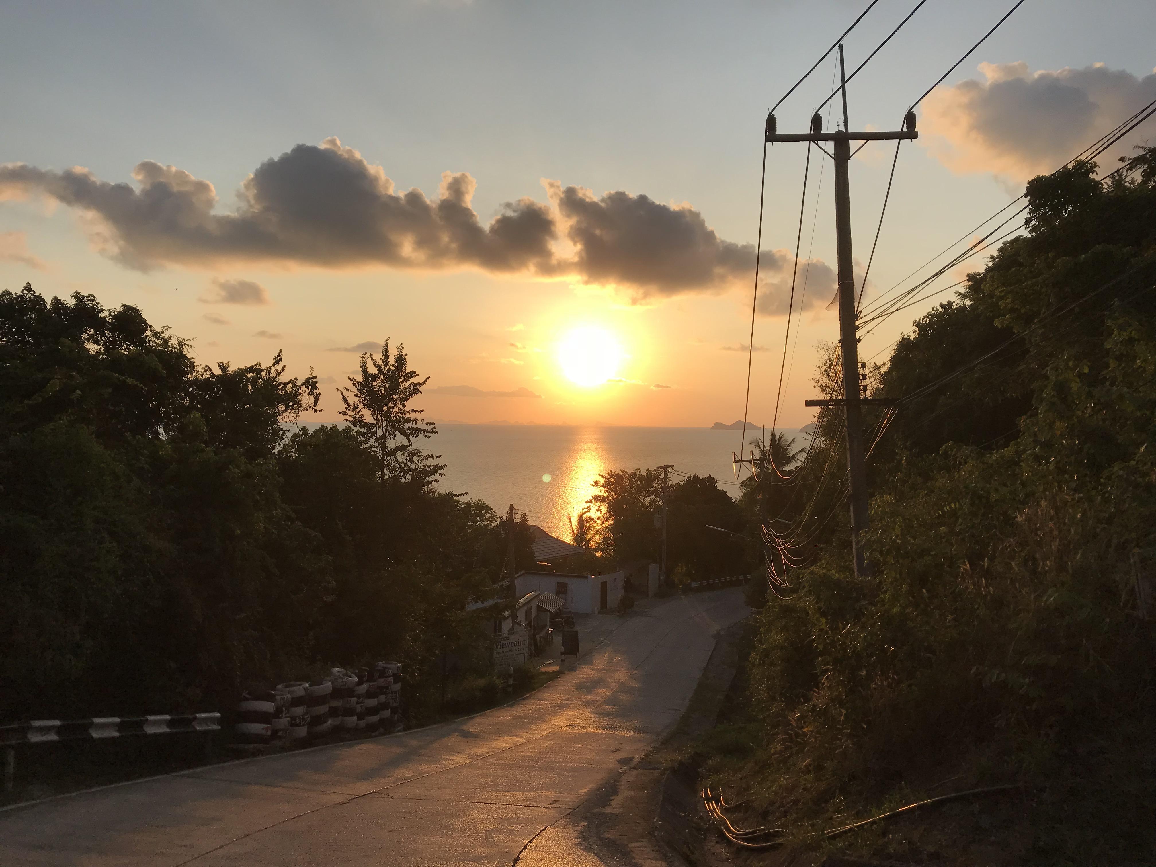 パンガン島 夕日