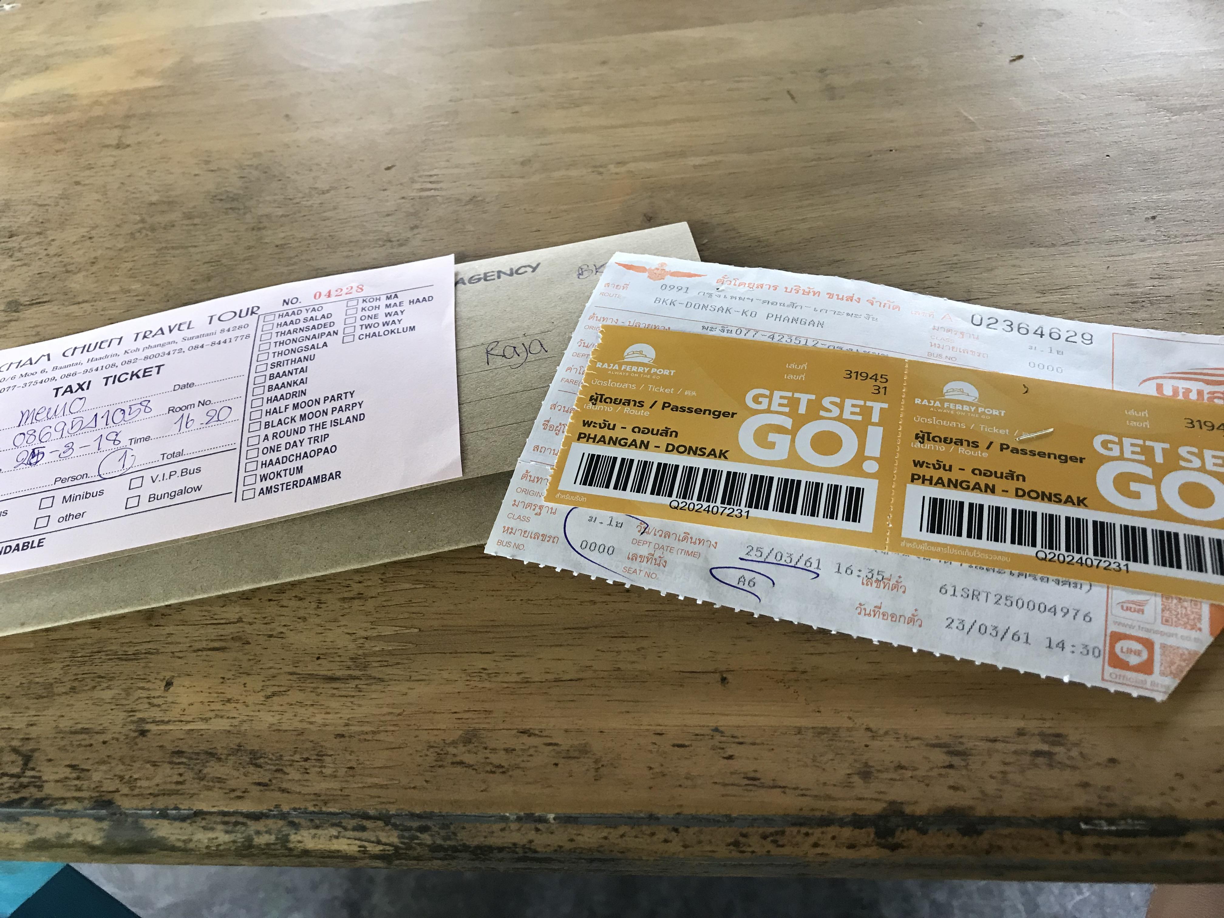 パンガン島からバンコク バス