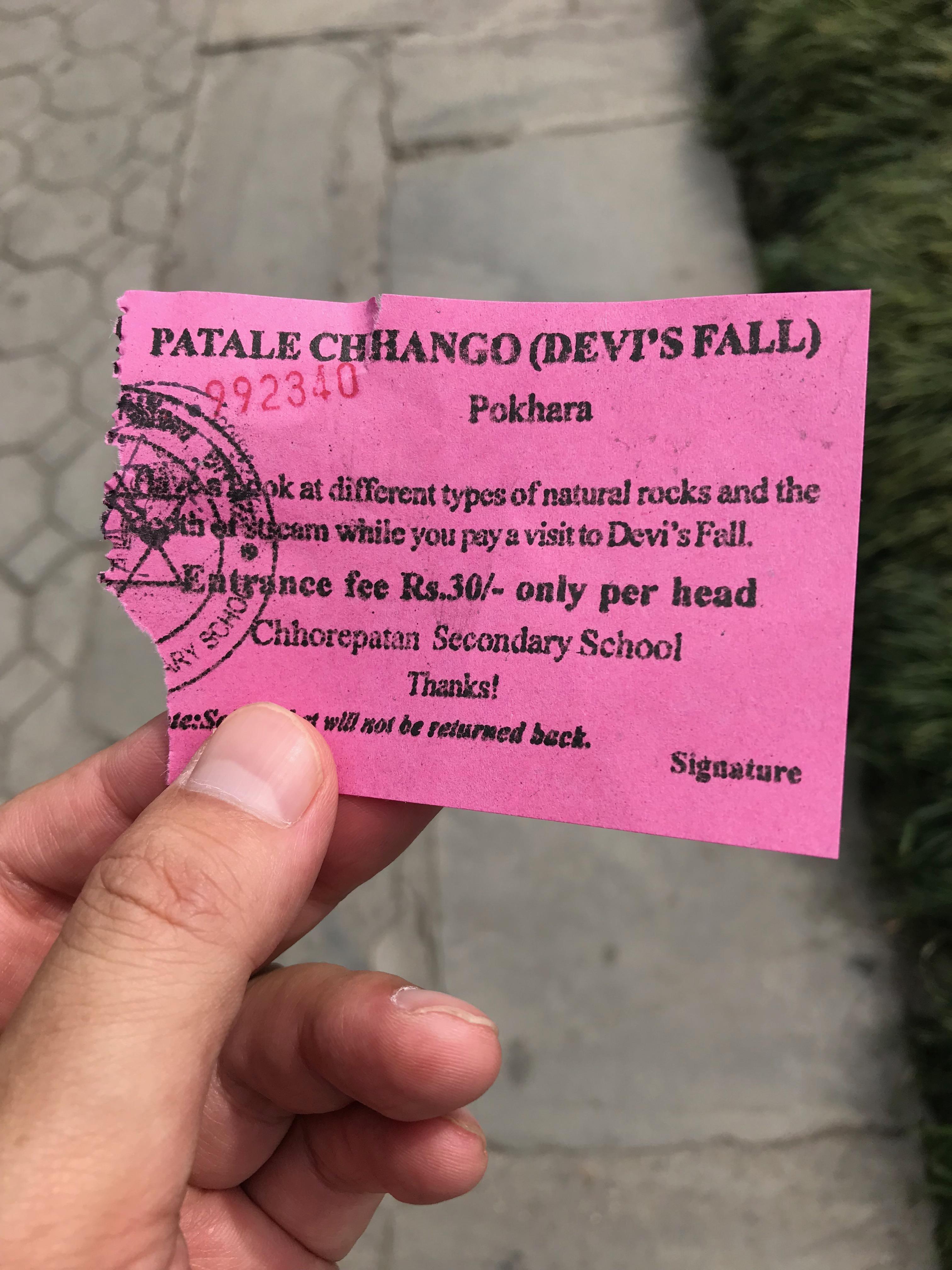 Davis Falls, Pokhara