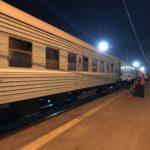 夜行電車でアルマトイからシムケントへ