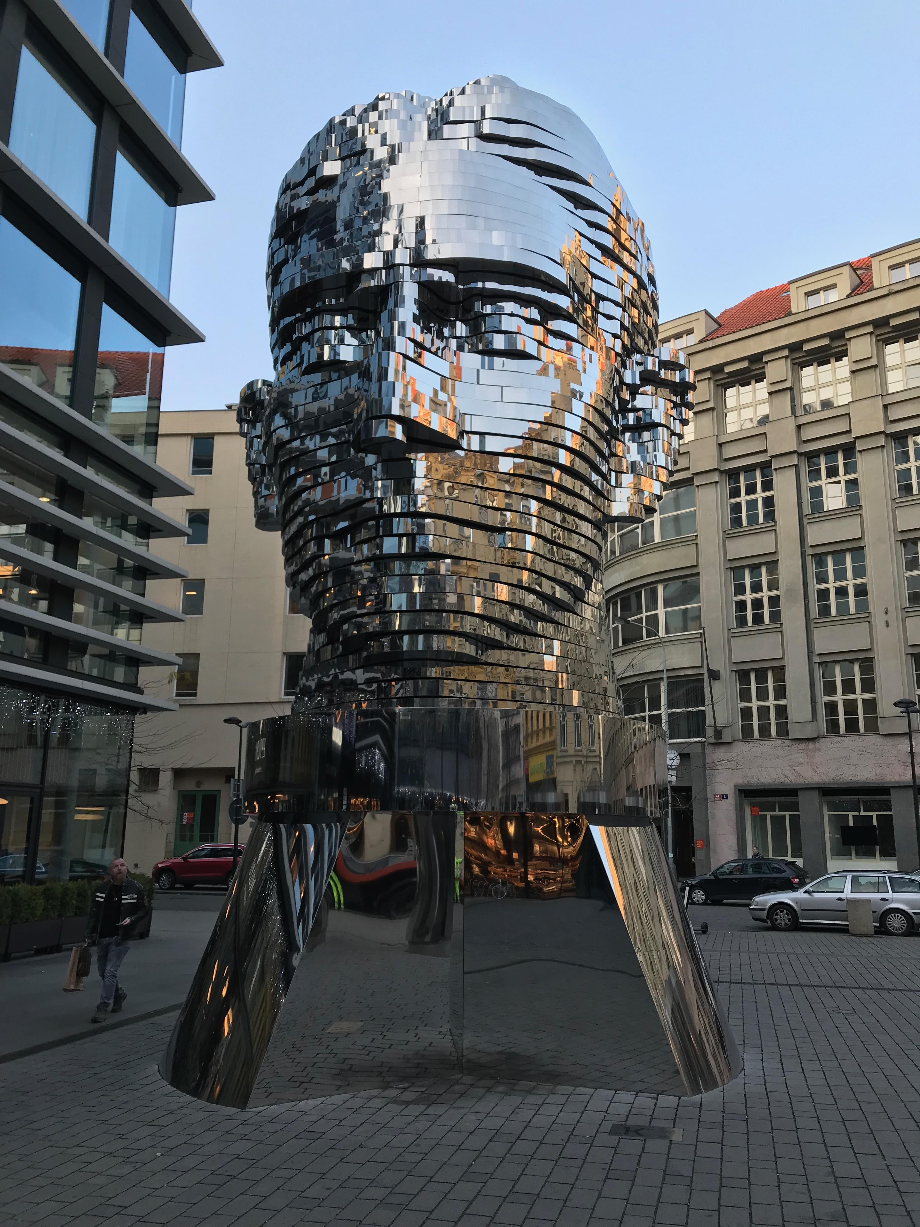 Otočná hlava Franze Kafky