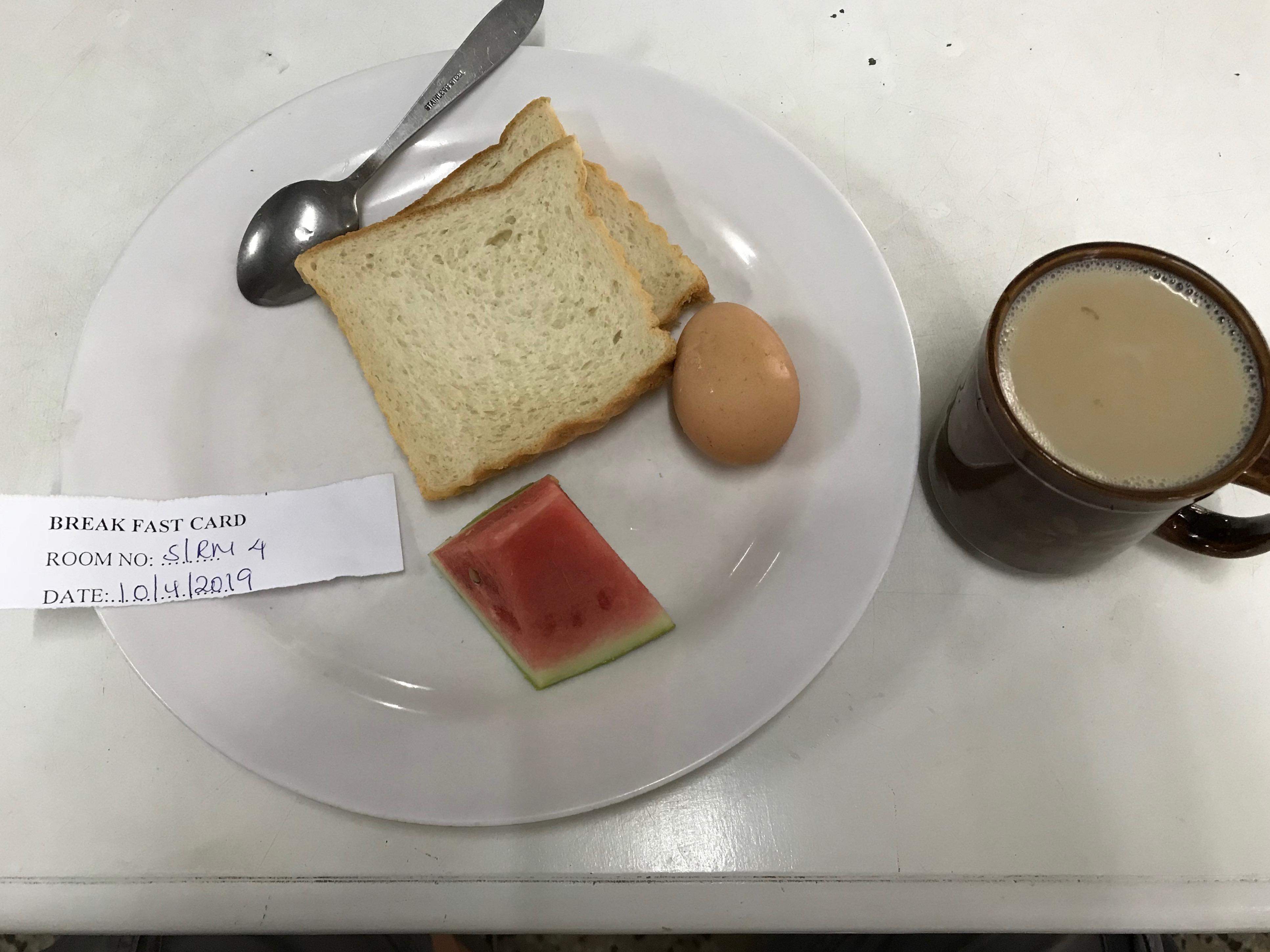 YWCA朝飯