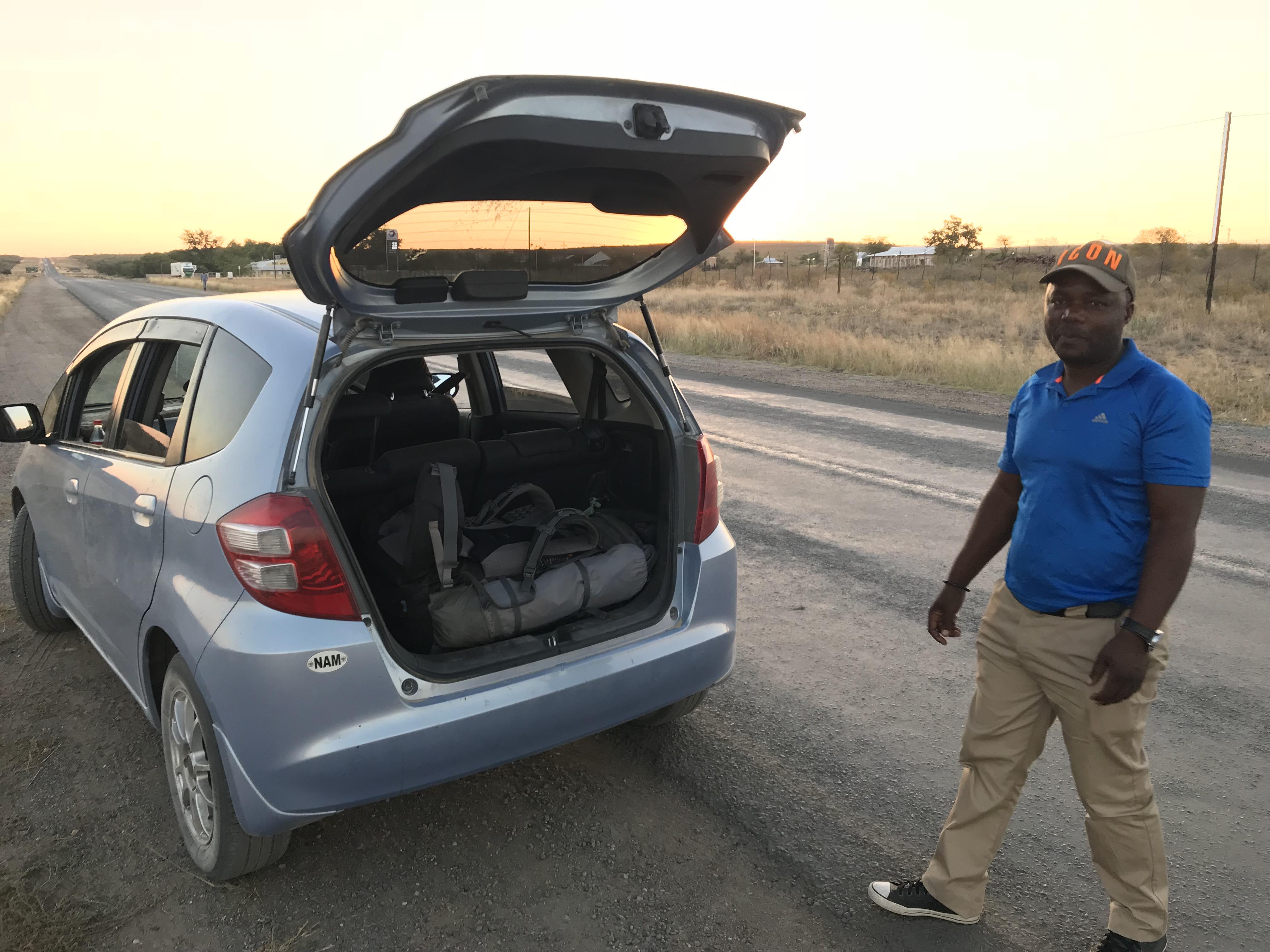 ナミビア国境抜けたところ