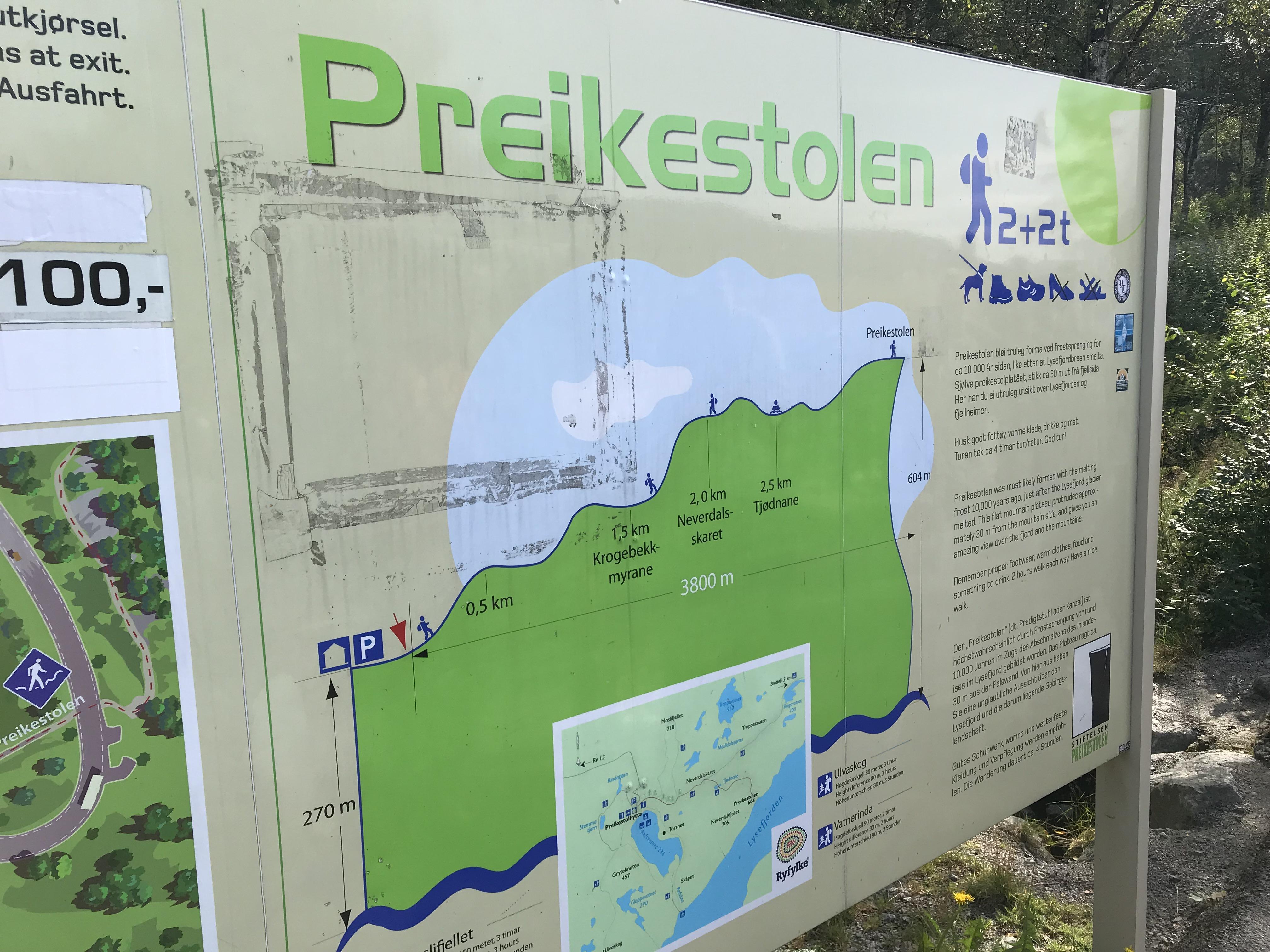 スタバンゲルからプレーケストーレン
