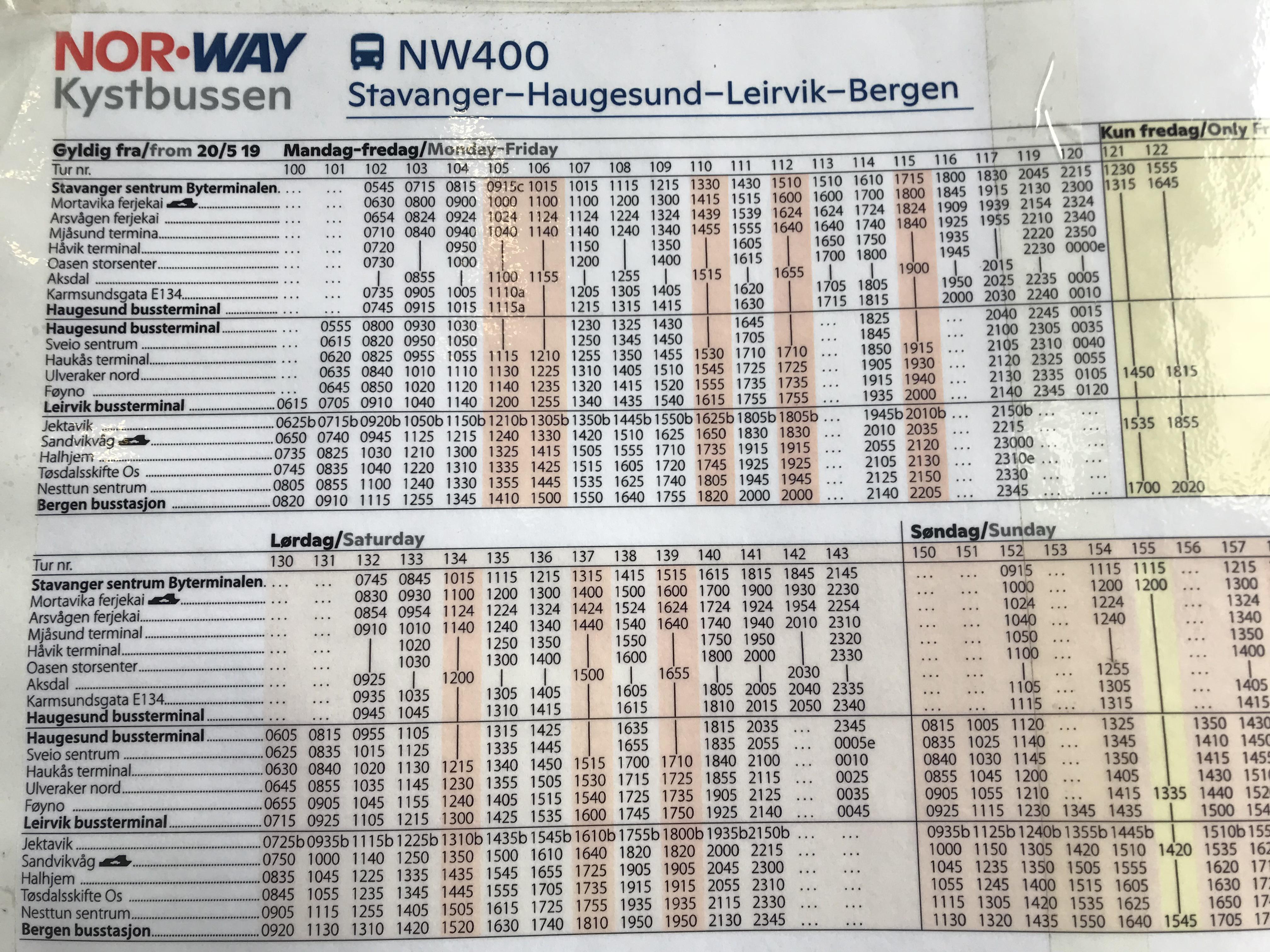 スタバンゲルバスターミナル