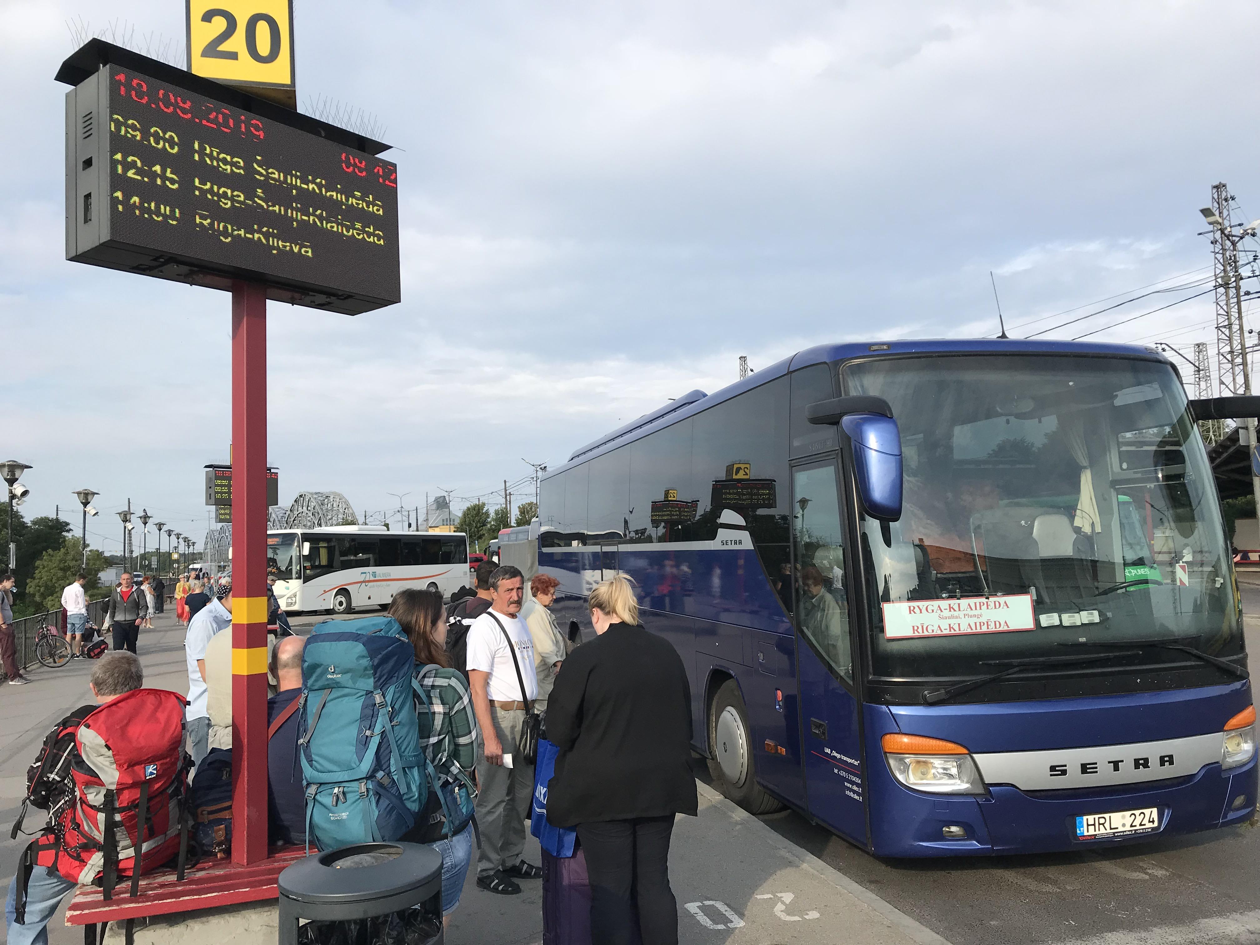 リガからシャウレイ バス移動