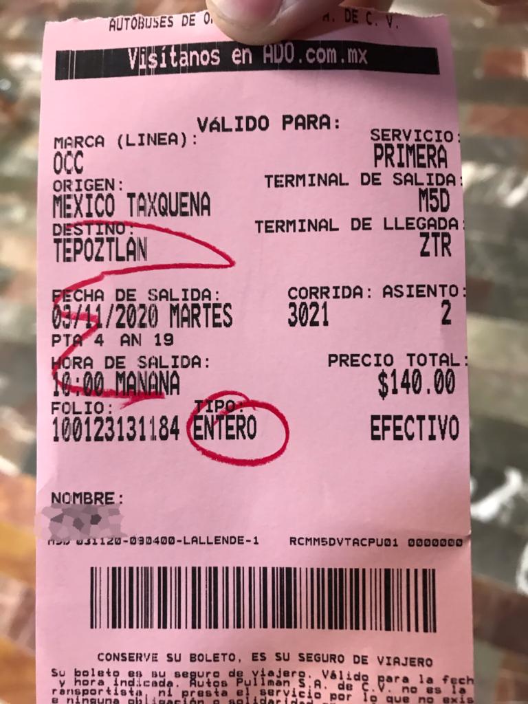メキシコシティからテポストラン